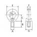 Подъёмные рым-болты для подъёма по оси DIN 580