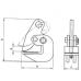 Захват для металла - горизонтальный подъём тип DHQ